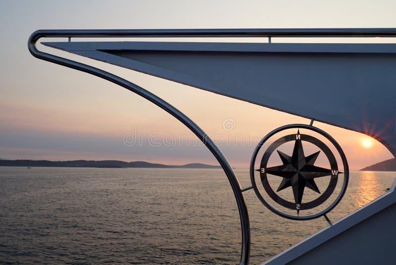 Bussola della barca fotografia stock libera da diritti