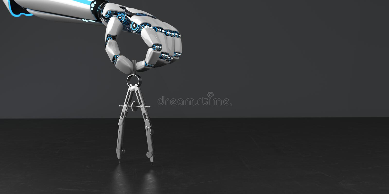 Bussola della mano del robot royalty illustrazione gratis