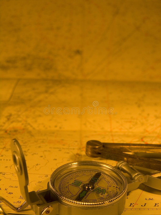 Bussola e programma nautico fotografie stock