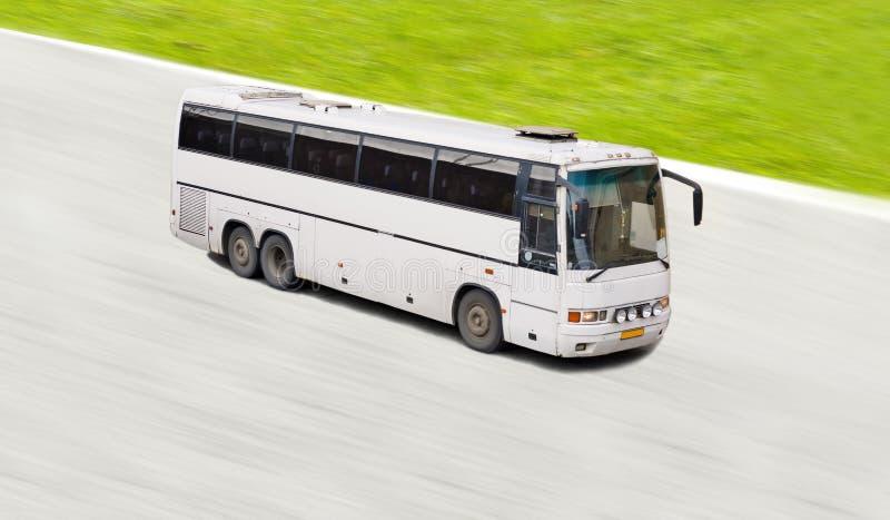 bussrörelsewhite royaltyfri bild