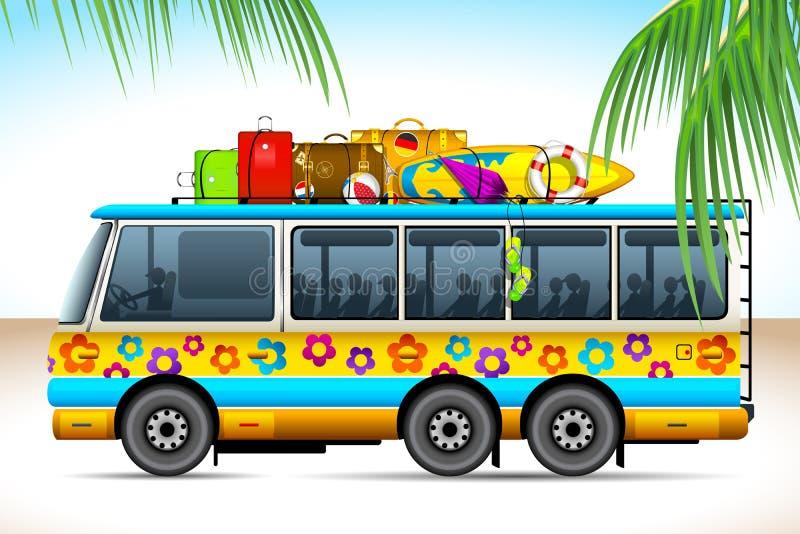 bussresa royaltyfri illustrationer