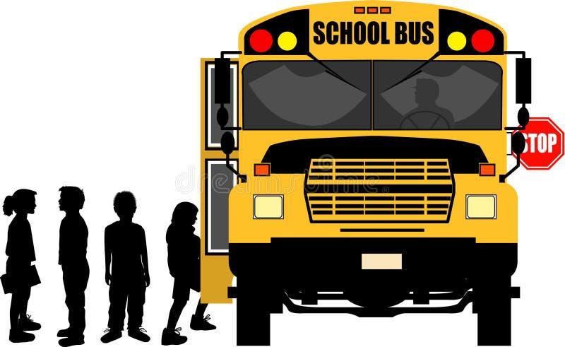 bussskolastopp vektor illustrationer