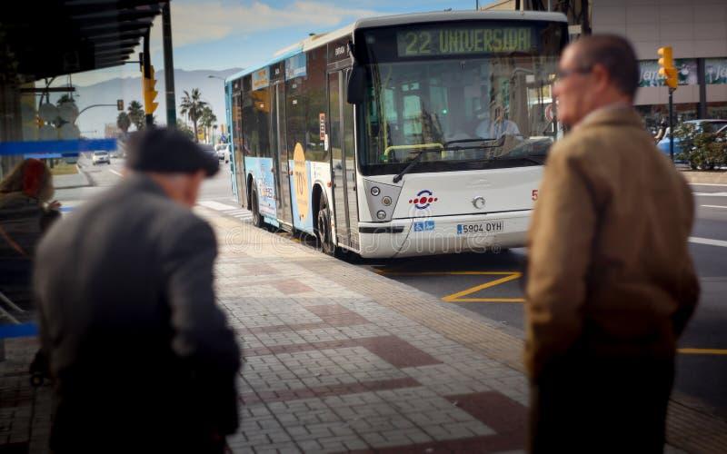 Bussstation Malaga royaltyfria foton