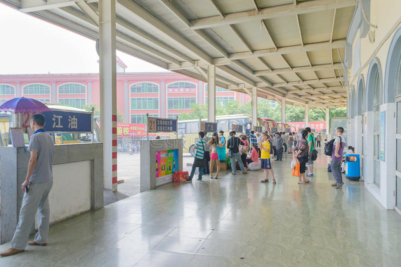 busstation royaltyfria bilder