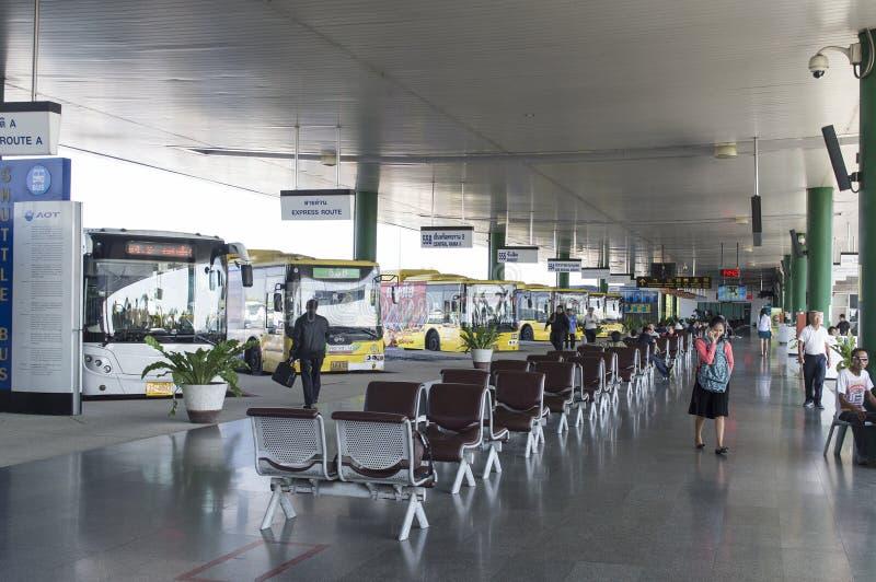 Busstation royalty-vrije stock afbeelding