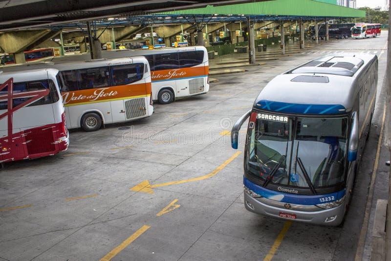Busstation royalty-vrije stock foto