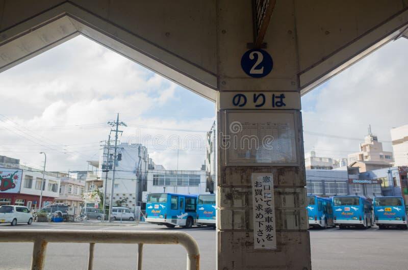 Bussterminalen i Ishigaki, Okinawa Prefecture royaltyfri fotografi