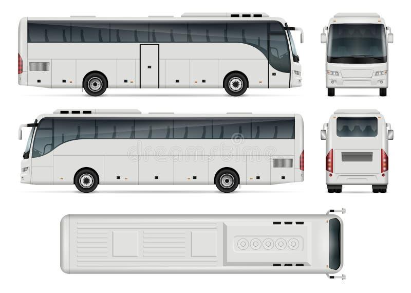Bussvektorillustration vektor illustrationer