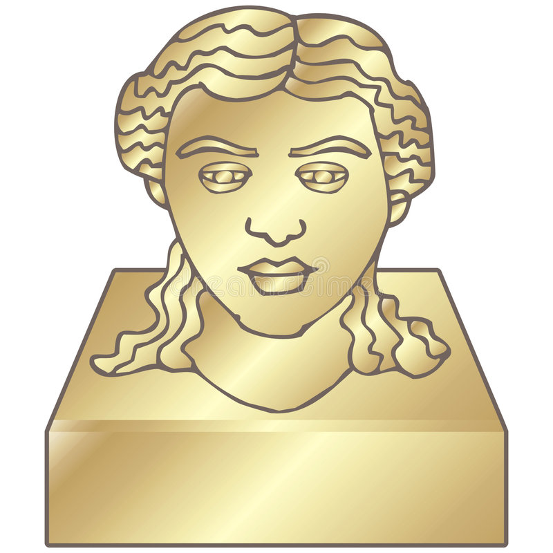 Bust. A bust of a head to tribute someone important royalty free illustration
