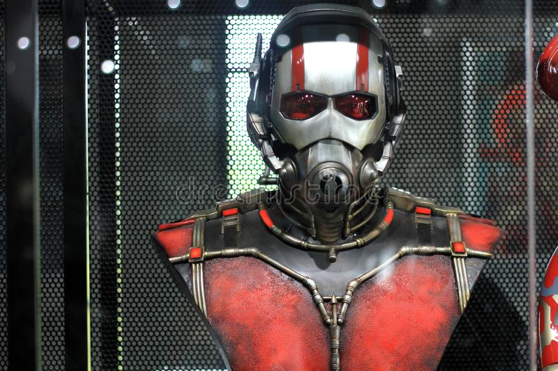 Bust Ant man Figure Model on display at The M Cafe royalty free stock photo