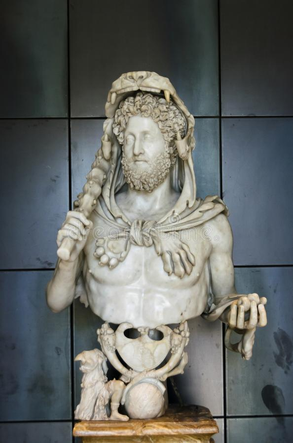 Bust of Commodus as Hercules royalty free stock photo
