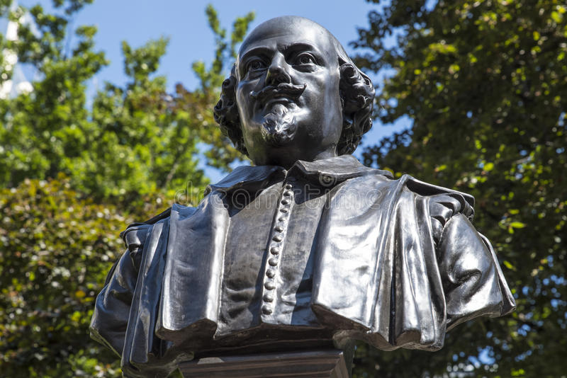 William Shakespeare Bust in London stock images