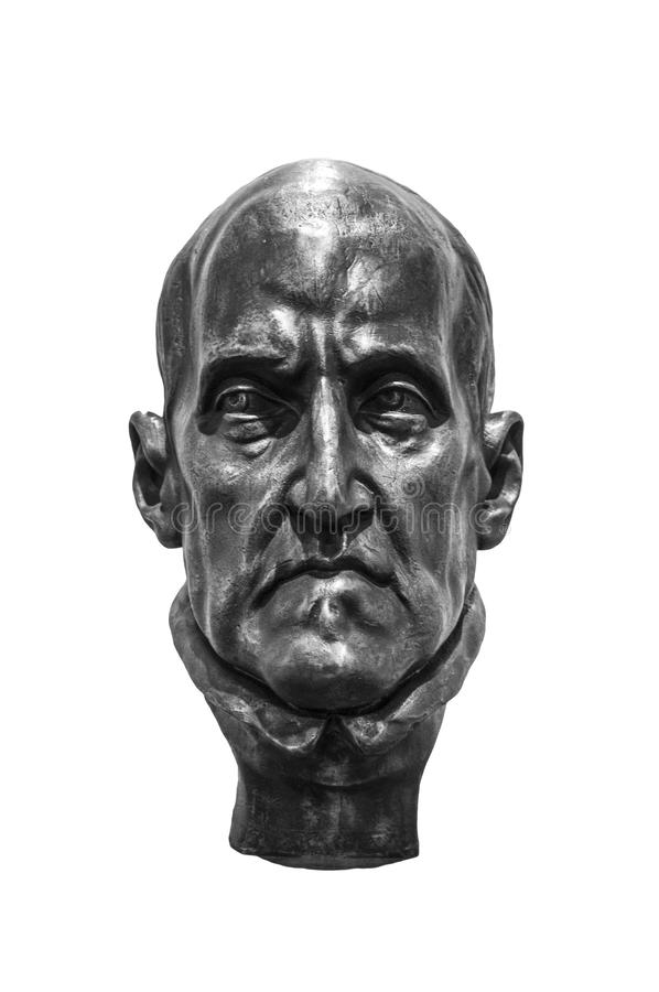 Bust of famous poet Luis de Gongora, born in Cordoba. Isolated royalty free stock photos