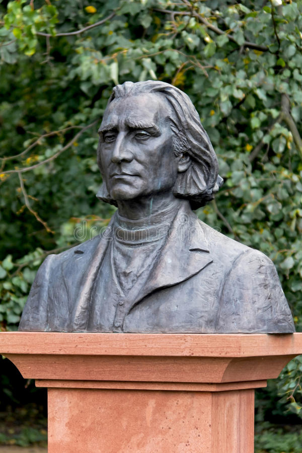 Poland, Warsaw, Bust of Franz Liszt