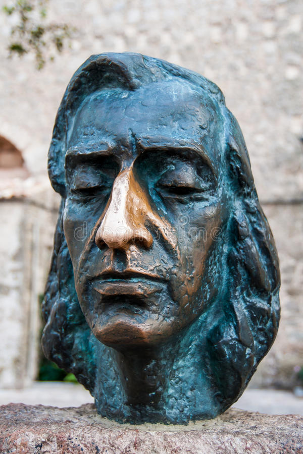 Bust of Frederic Chopin. Close up of a bust of the composer Frederic Chopin stock photography
