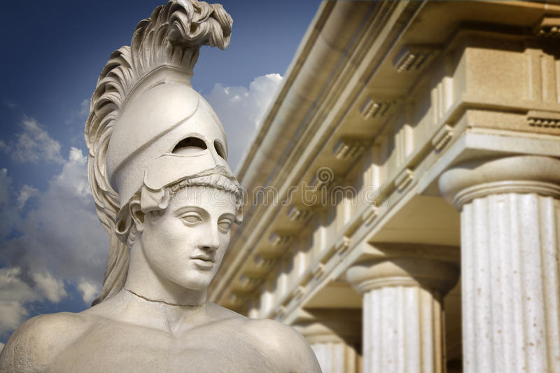 Bust of the greek statesman Pericles royalty free stock photo