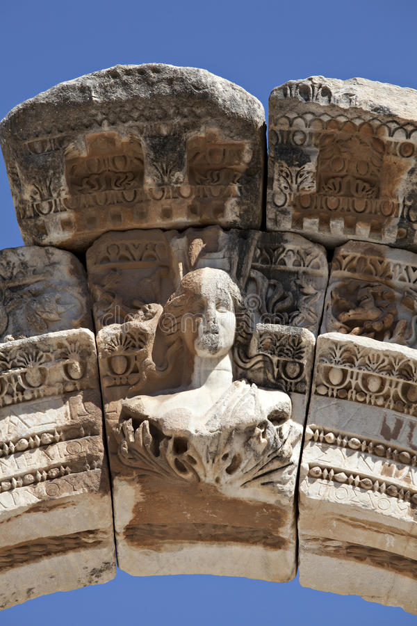 Download Bust Of Hadrian's Arch, Ephesus Stock Photo - Image: 23134688