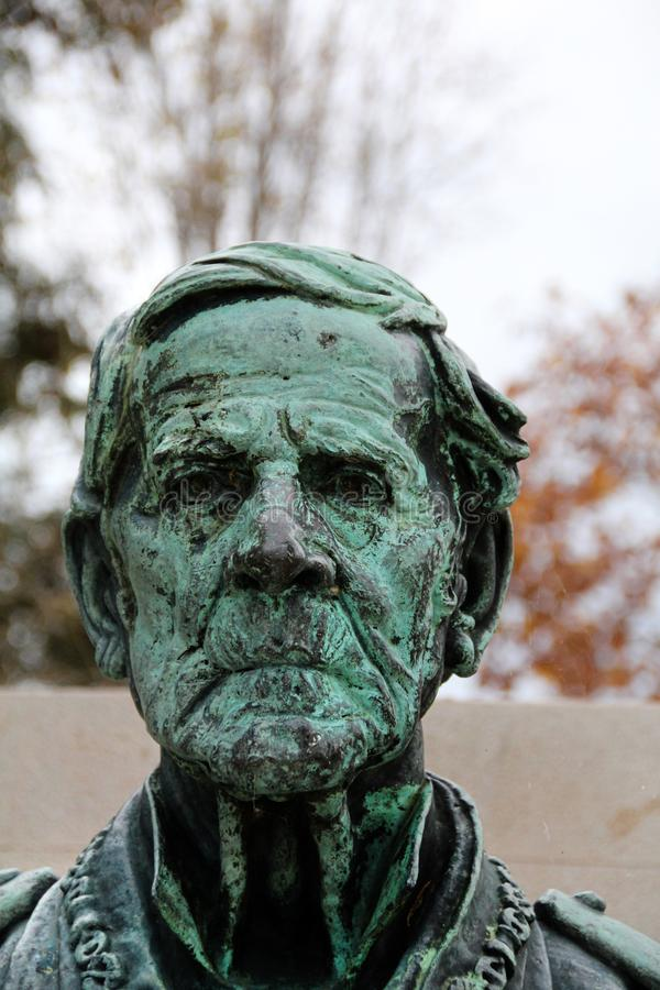 Bust of Joaquim Lopes stock photography