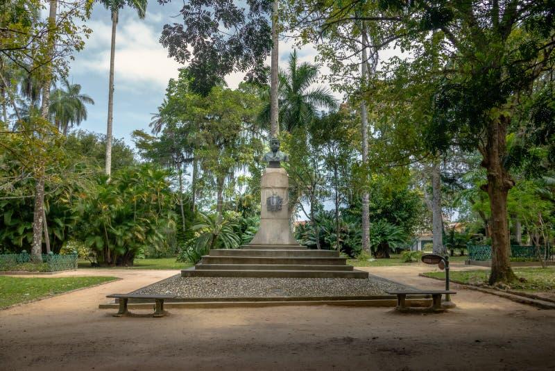 Bust of John VI of Portugal at Jardim Botanico botanical garden - Rio de Janeiro, Brazil royalty free stock photo
