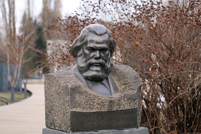 Bust of Karl Marx stock photo