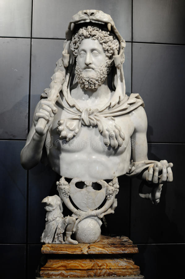 Free Bust Of Commodus As Hercules Royalty Free Stock Images - 17518219