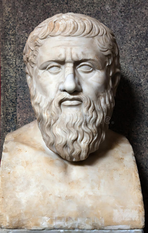 Bust of Plato. (c.427-347 BC