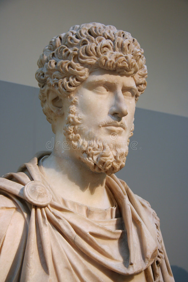 Bust Of Roman Emperor Stock Image