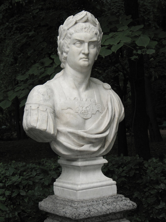 Bust of Roman emperor Nero royalty free stock images