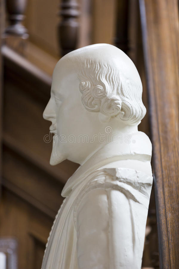Bust of Shakespeare at National Churchill Museum, Fulton, Missouri royalty free stock photography