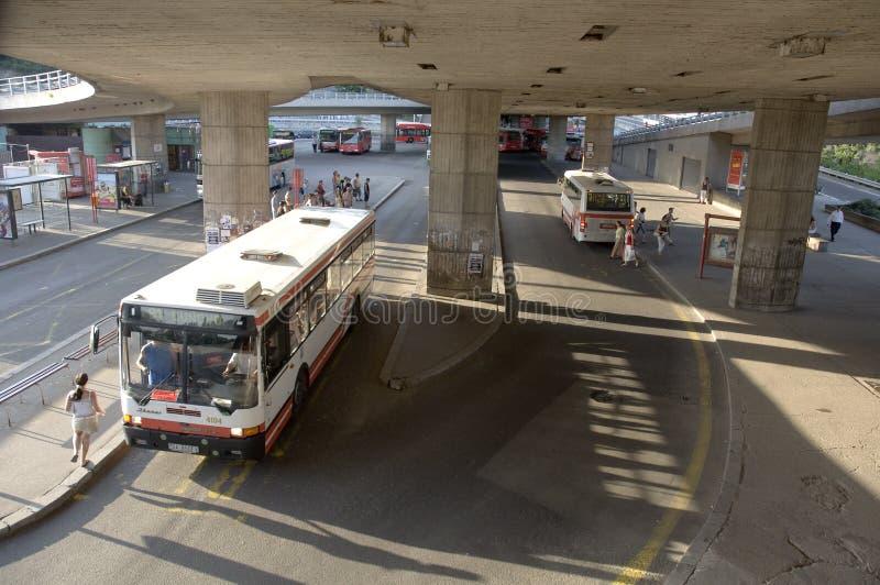 Download Bust station in Bratislava editorial stock image. Image of transportation - 22855644