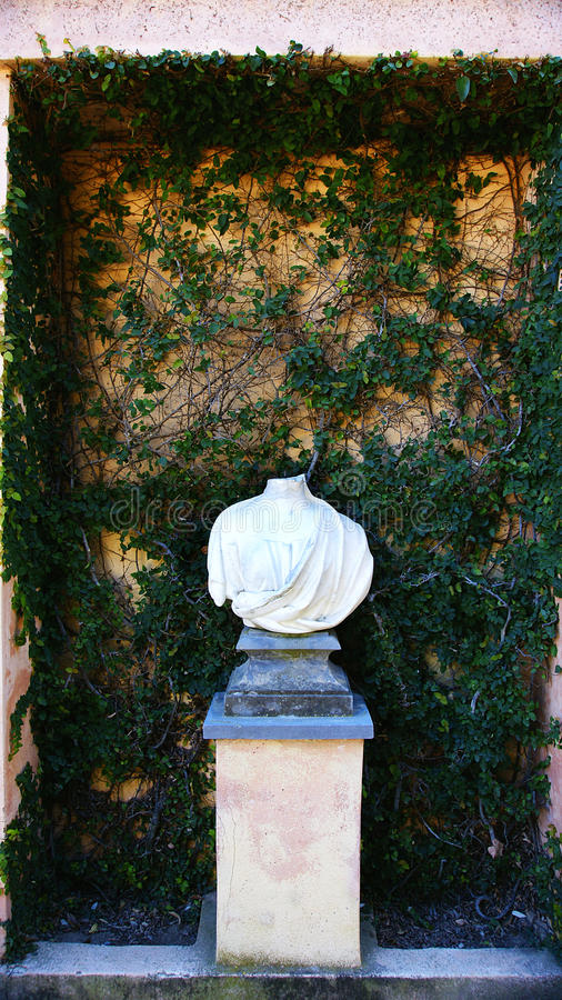 Free Bust Without Head In White Marble, Horta Labyrinth Park Stock Photos - 95728933