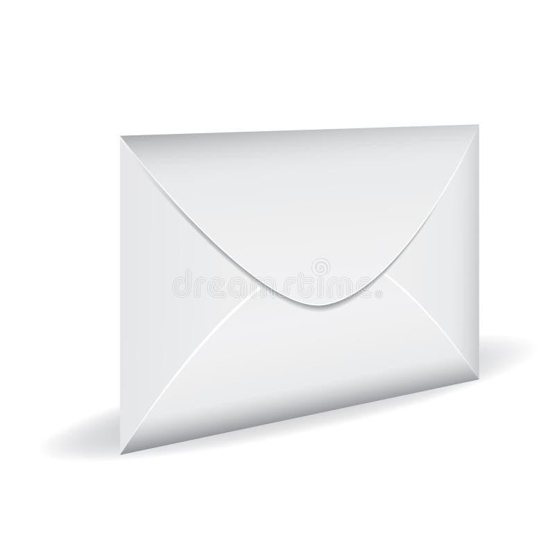 Busta bianca chiusa della posta royalty illustrazione gratis