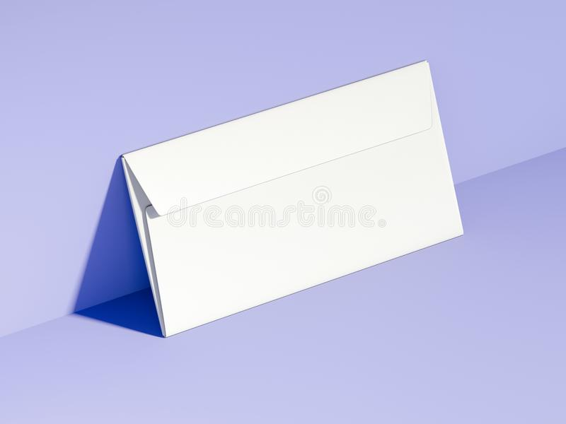 Busta in bianco bianca rappresentazione 3d illustrazione vettoriale