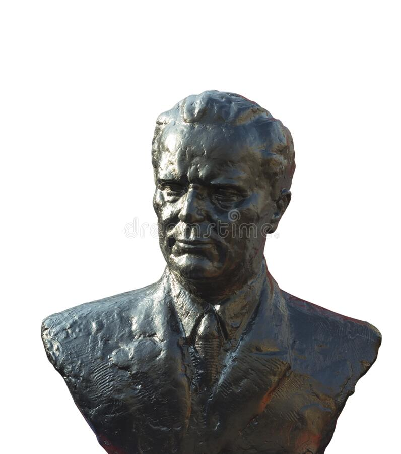 Busta byłego prezydenta Juogslavia Tito obraz royalty free
