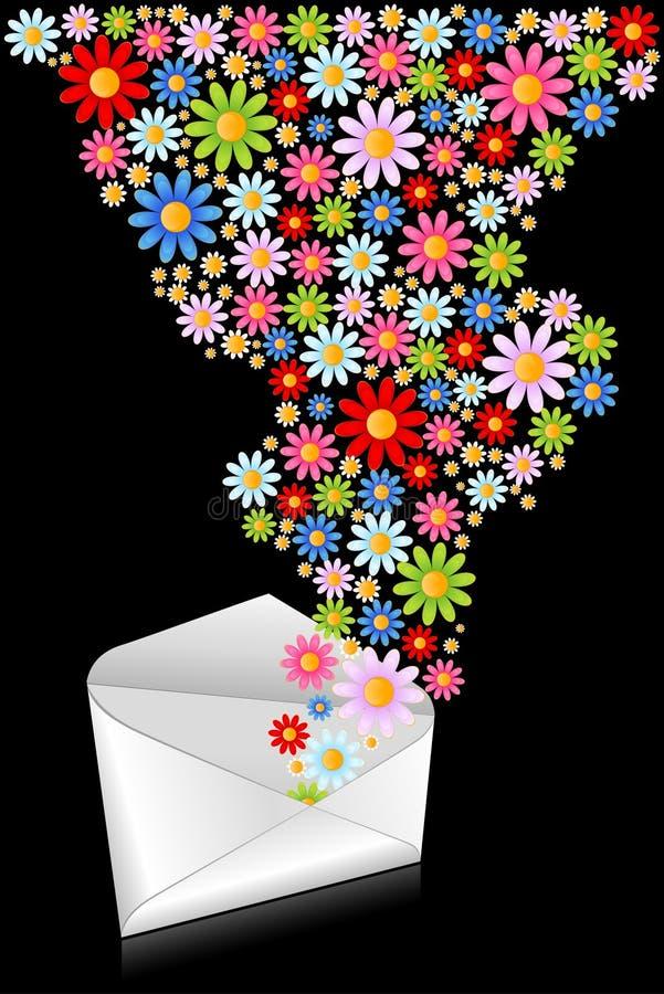 Busta celebratoria con i fiori illustrazione vettoriale