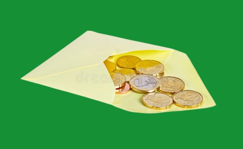 Busta con euro soldi fotografie stock libere da diritti