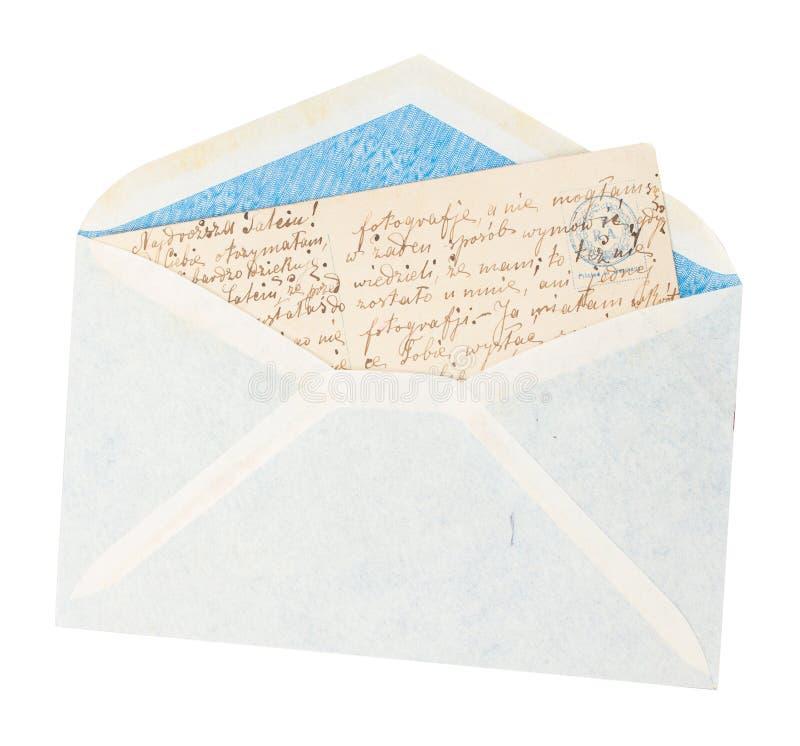 Busta con la lettera fotografie stock