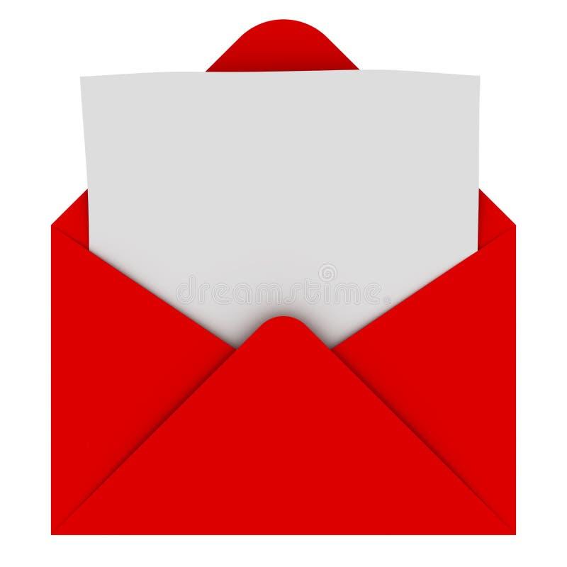 Busta con la lettera in bianco illustrazione vettoriale