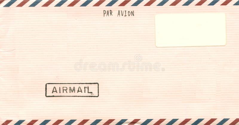 Busta di posta aerea dell'annata fotografia stock