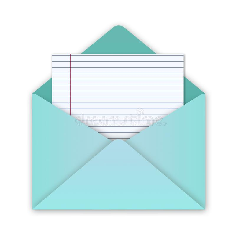 Busta verde con la lettera fotografie stock