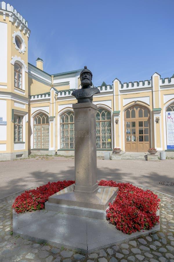 Buste à prince Lvov dans le village de Strelna, St Petersburg image libre de droits
