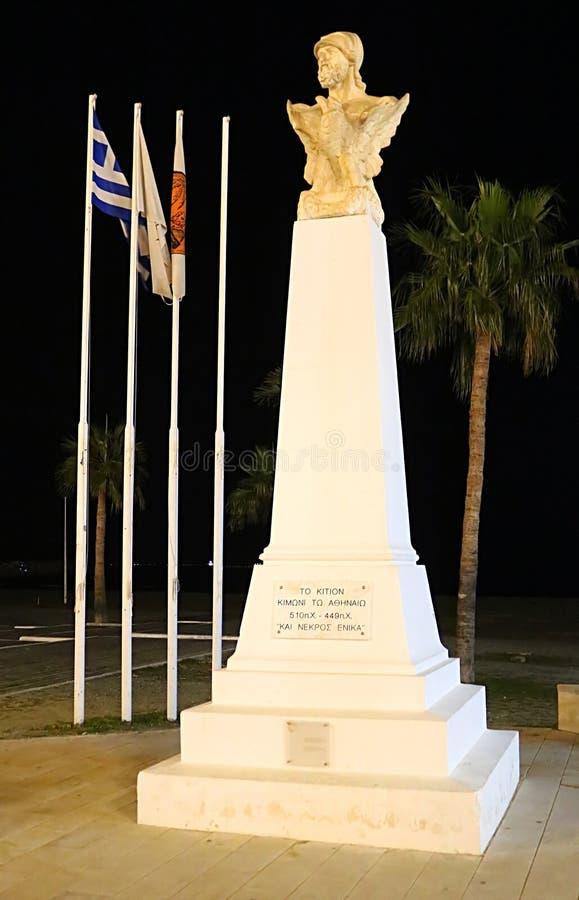 Buste de Cimon à Larnaca, Chypre photos stock