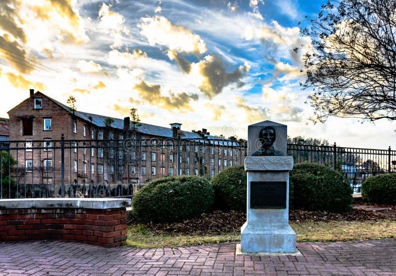 Buste de Daniel Pratt en parc d'héritage photo libre de droits
