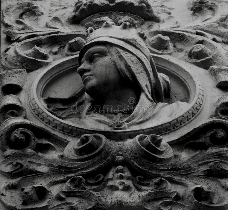 Buste de reine à l'intérieur de la partie de cercle photographie stock libre de droits