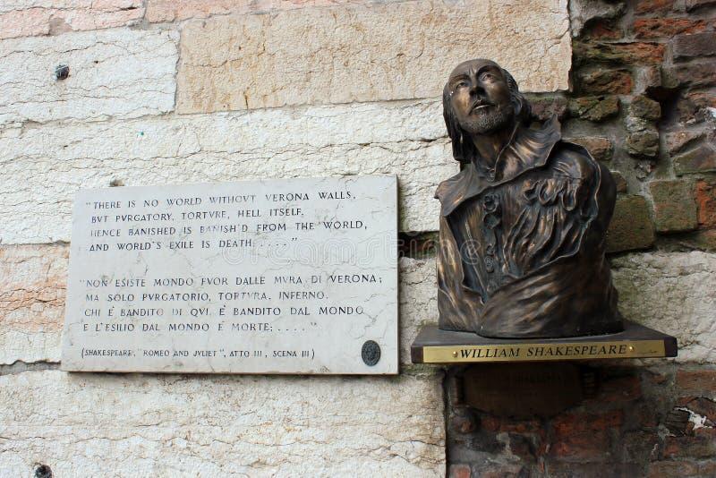 Buste de Shakespeare photographie stock libre de droits