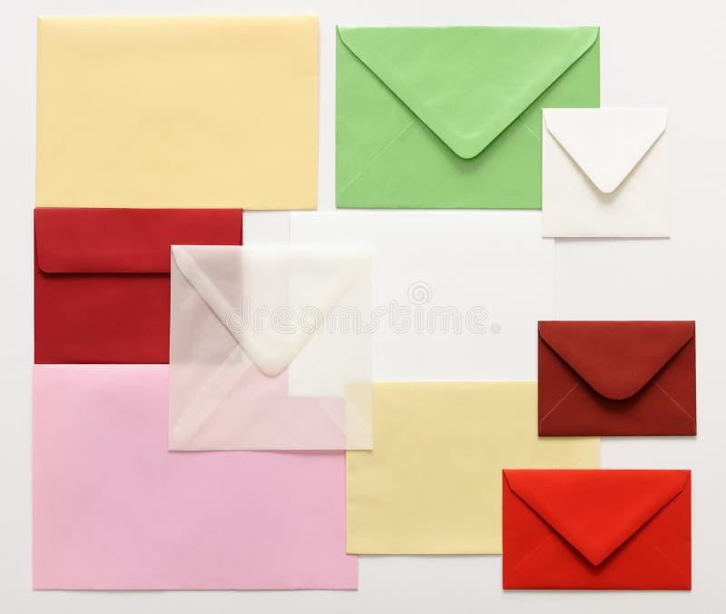 Buste della posta fotografie stock libere da diritti