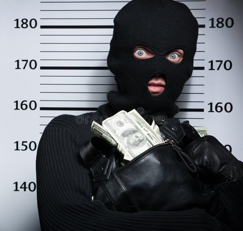 Busted inbreker. royalty-vrije stock afbeeldingen