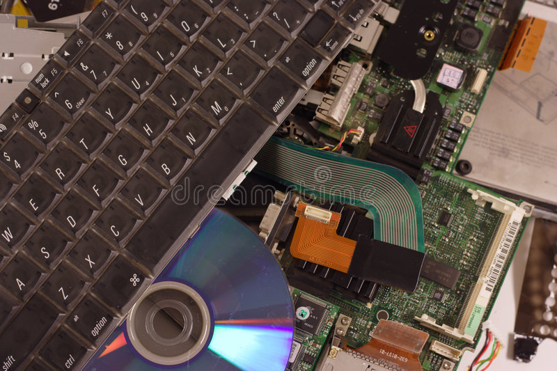 Download Busted laptop stock image. Image of hardware, repair, computer - 1354139