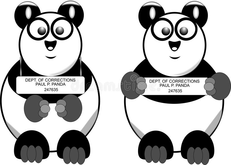 Busted Panda Icons Royalty Free Stock Photography