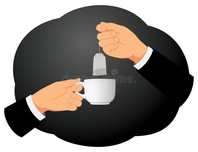 Bustina e tazza di tè illustrazione di stock